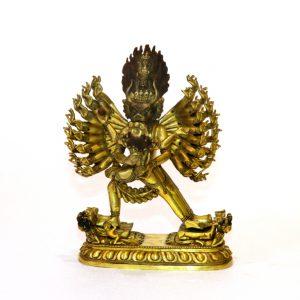 A Gilt Bronze Figure of Yamantaka